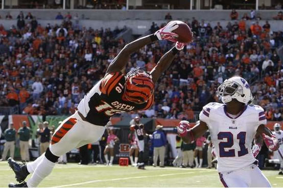 A.J. Green: Making noodle-armed ginger quarterbacks look good since 2009.
