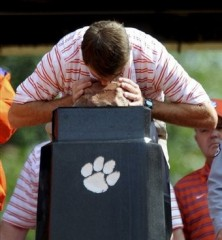 Dabo Swinney loves rock. Via.