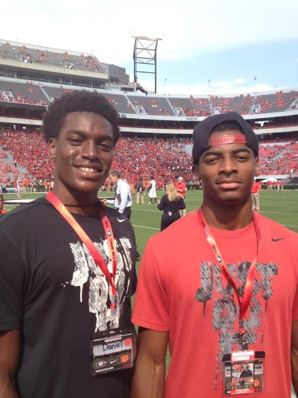 Daniel Imatorbhebhe and Darius Slayton courtesy of @_bhex2